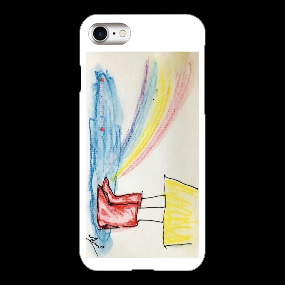 赤い長靴と虹(iPhone8)( iPhone8(白)