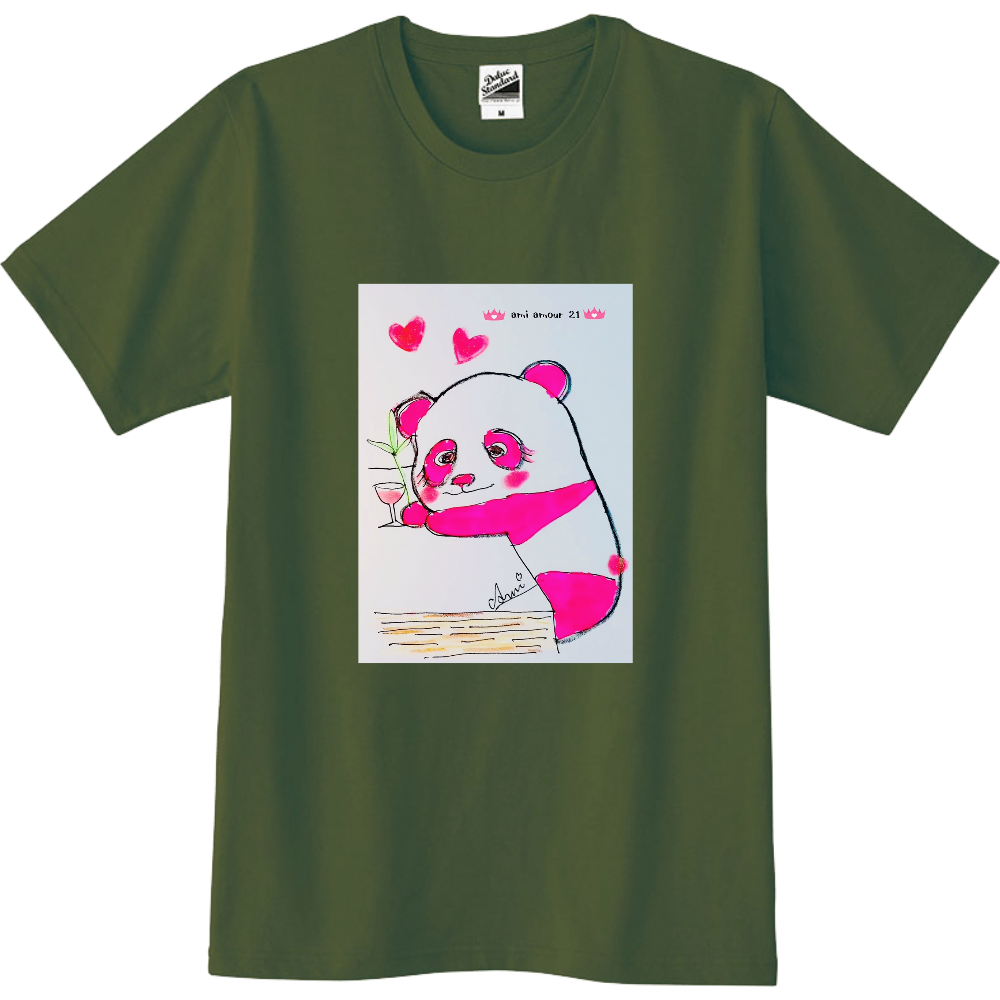 「酔っパンダ」メンズ(女性もOK) スリムTシャツ