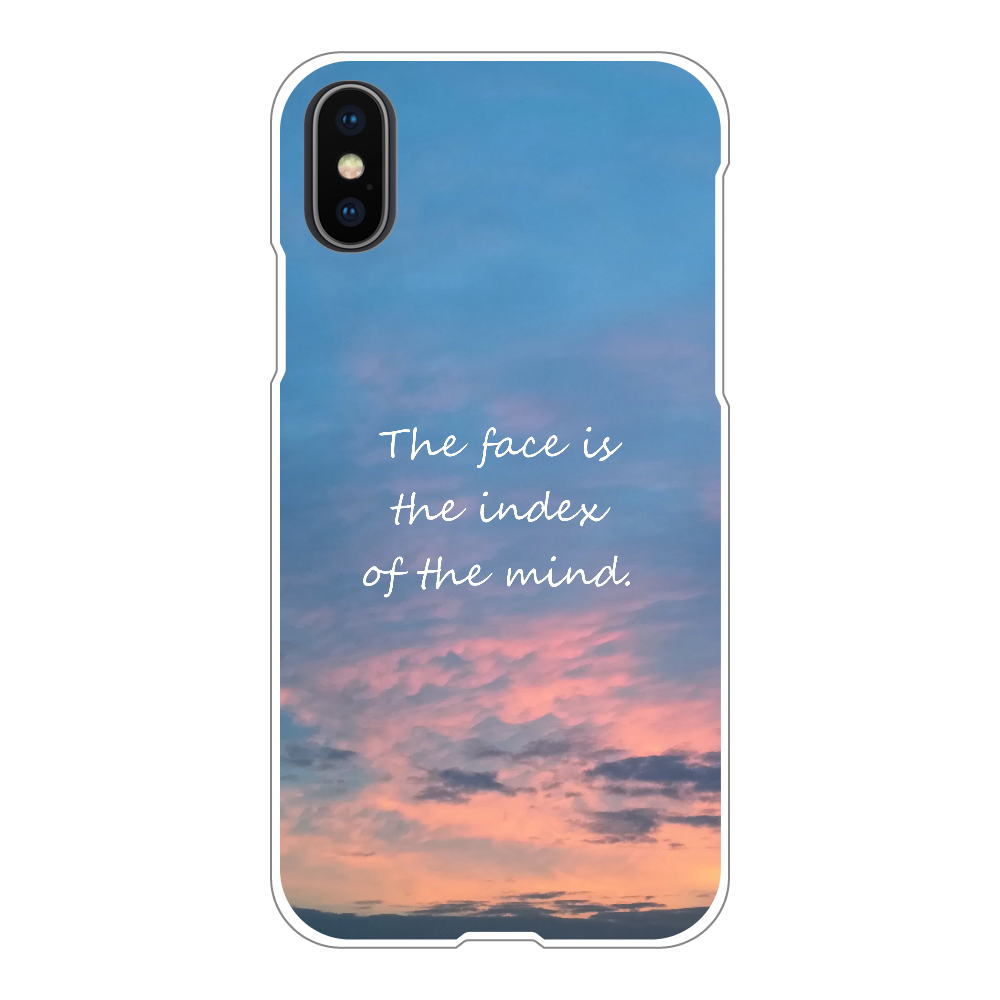 The face is the index of the mind. iPhoneX/Xs(白)