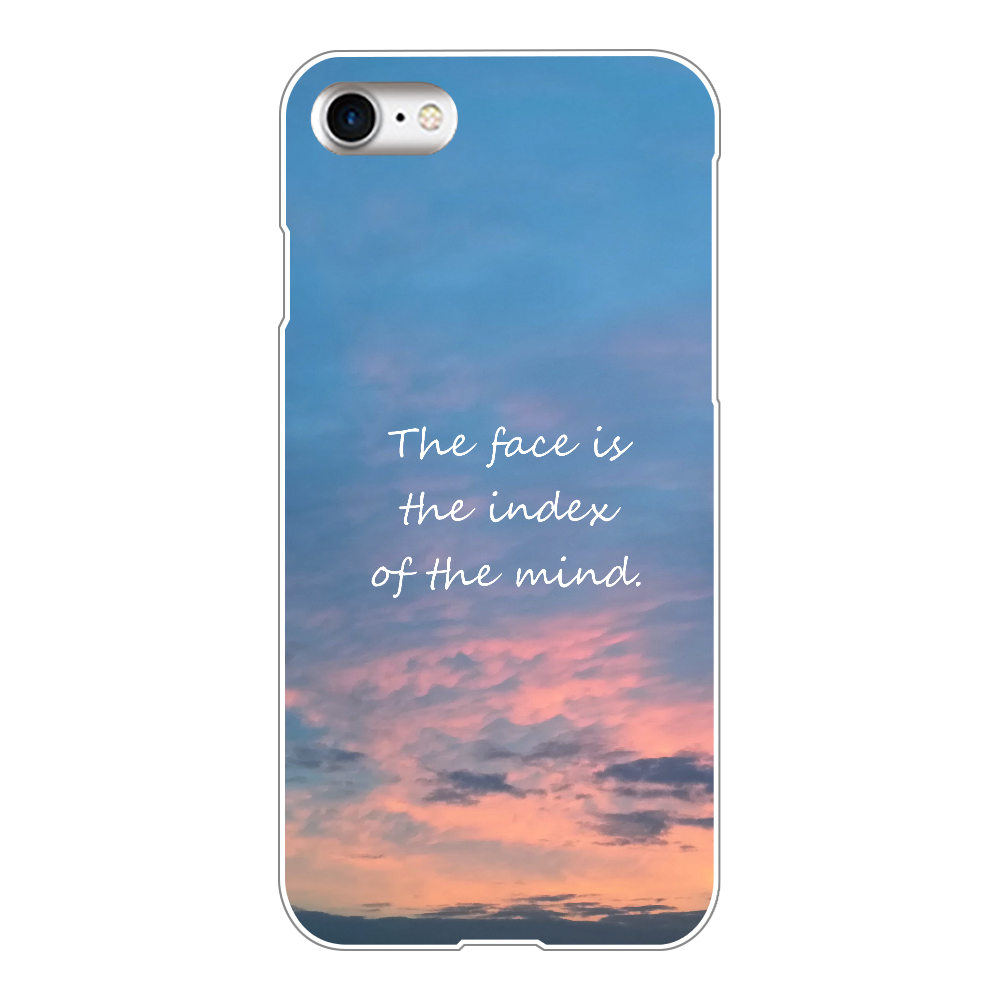The face is the index of the mind. iPhone8(透明)