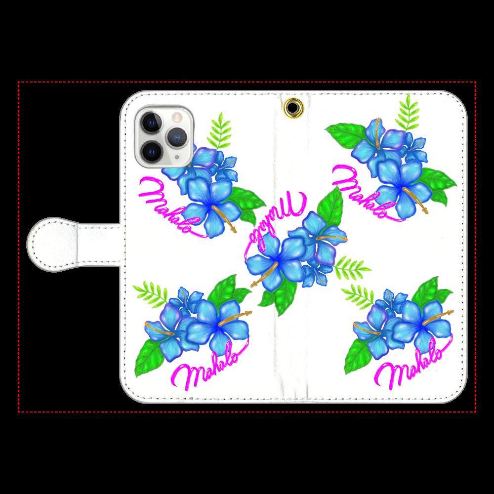 ハイビスカス スマホケース iPhone11 Pro 手帳型スマホケース
