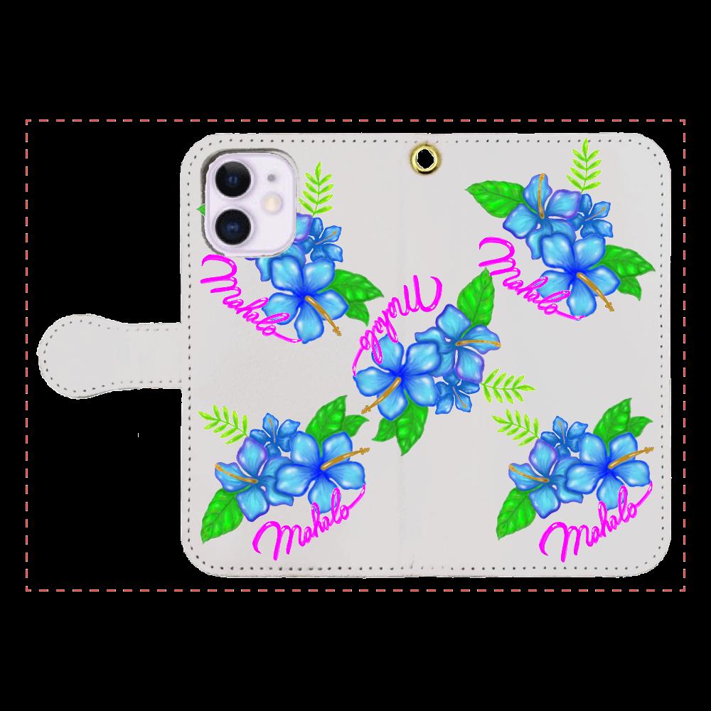 ハイビスカス スマホケース iPhone12mini 手帳型スマホケース