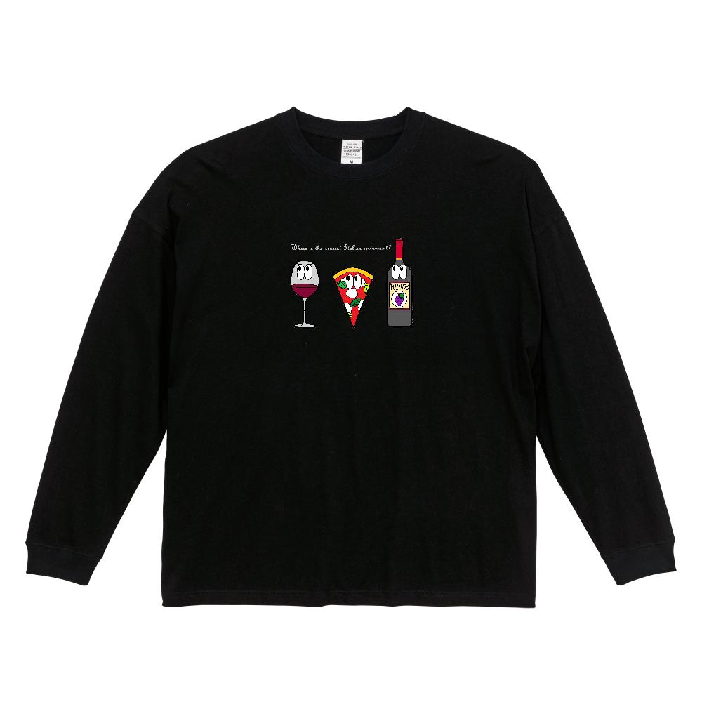 ピザ/モンスター ビッグシルエットロングスリーブTシャツ