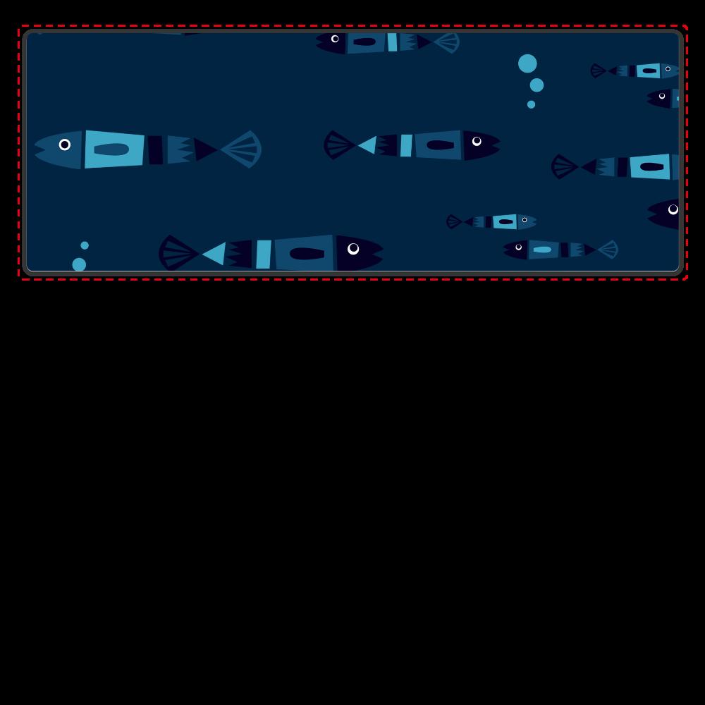 レトロフィッシュ_ダーク Bluetoothスピーカー 表のみプリント