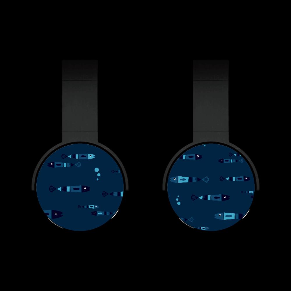 レトロフィッシュ_ダーク Bluetoothヘッドフォン