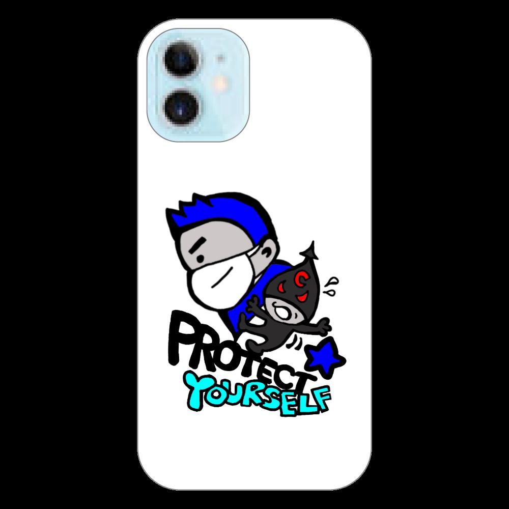Protect Yourself (ブルー) iPhoneケース iPhone12 mini