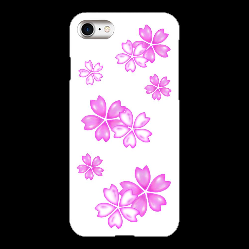 サクラ スマホケース iPhone8(白)