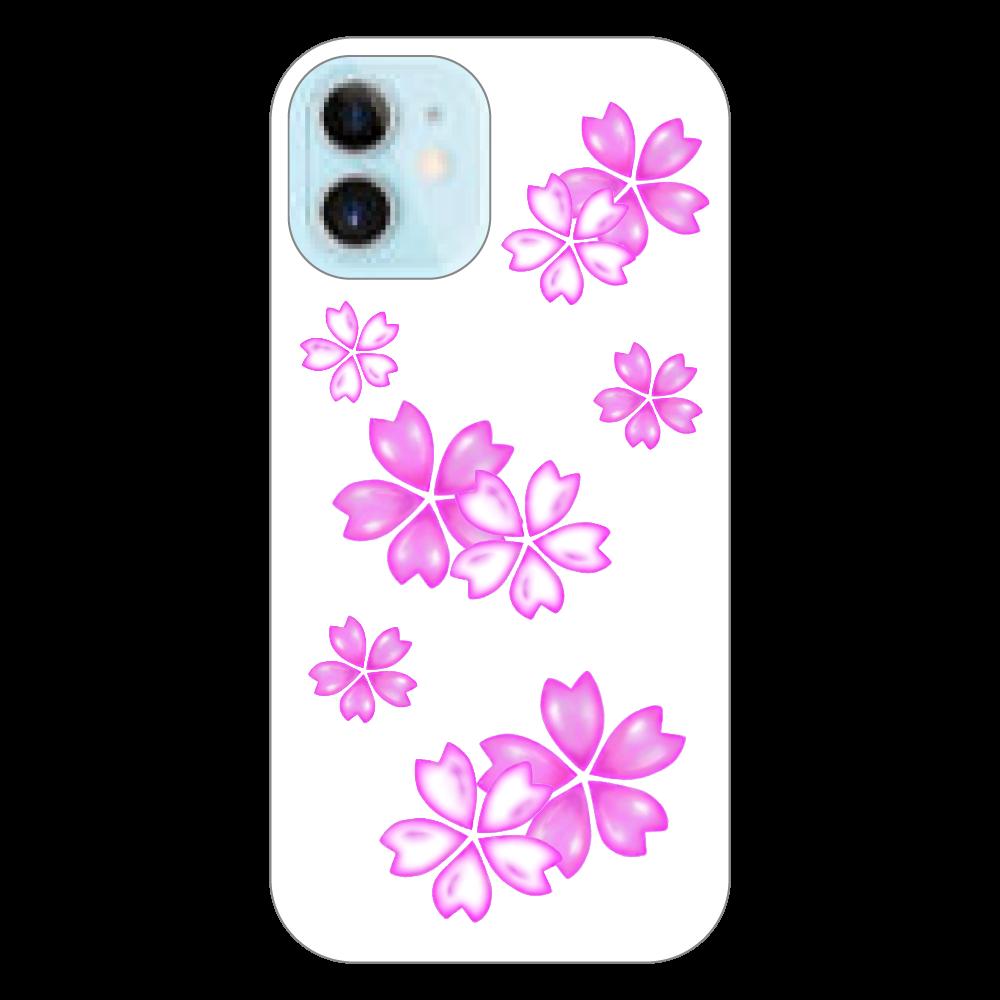 サクラ スマホケース iPhone12 mini