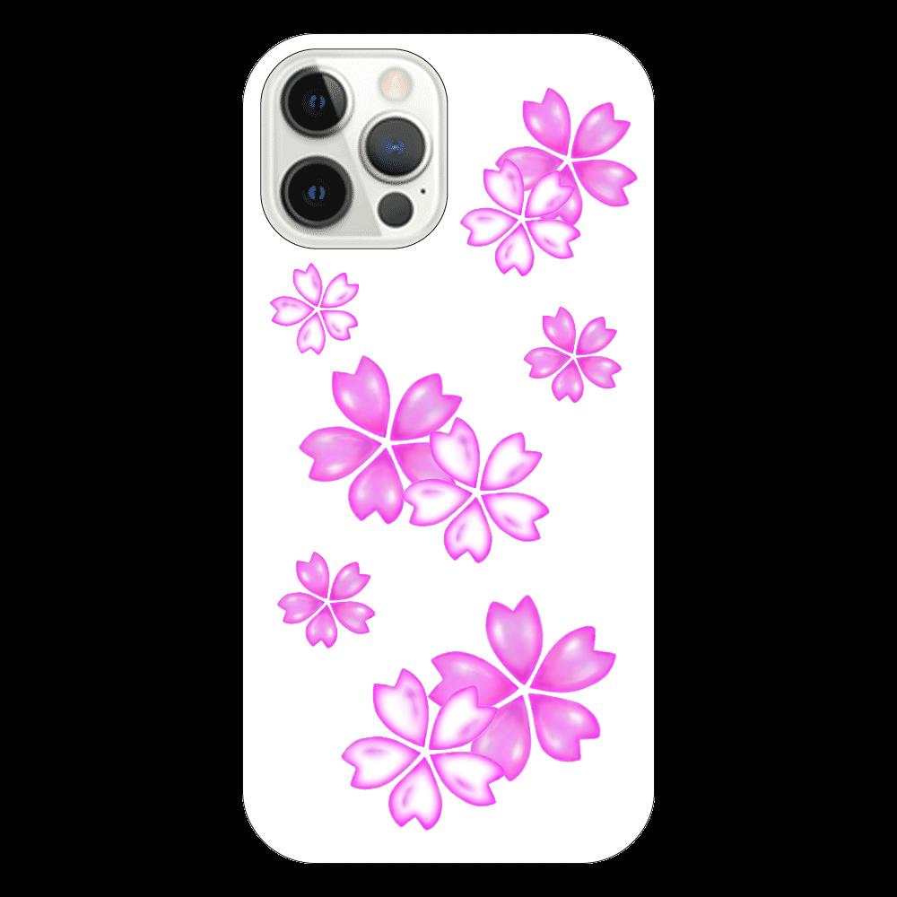 サクラ スマホケース iPhone12 Pro