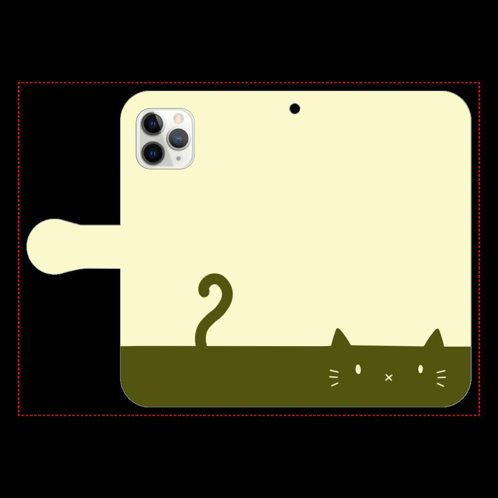 ネコカバー(抹茶) iPhone11 Pro 手帳型スマホケース