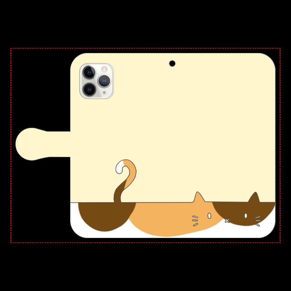 ネコカバー(三毛) iPhone11 Pro 手帳型スマホケース