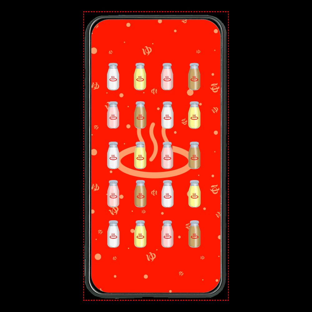 牛乳達 温泉・銭湯バージョン モバイルバッテリー 大容量モバイルバッテリー 両面ガラス 8000mAH