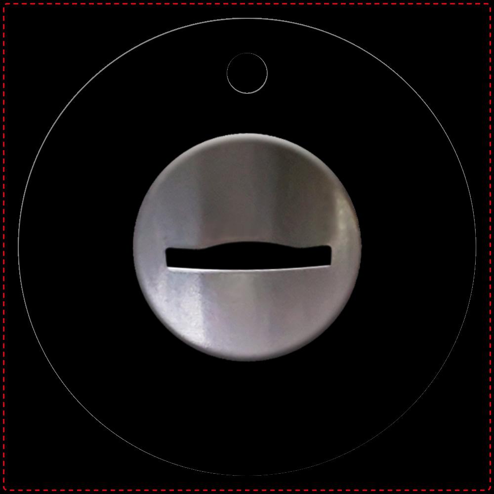 コイン投入口 キーホルダー レザーキーホルダー(丸型)