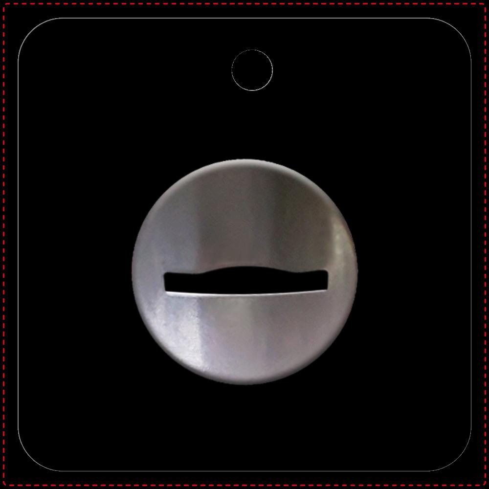 コイン投入口 キーホルダー レザーキーホルダー(四角型)
