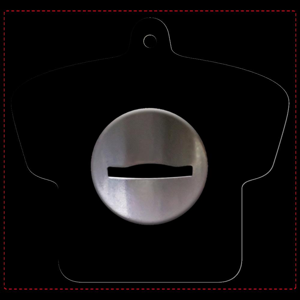 コイン投入口 レザーキーホルダー レザーキーホルダー(Tシャツ型)