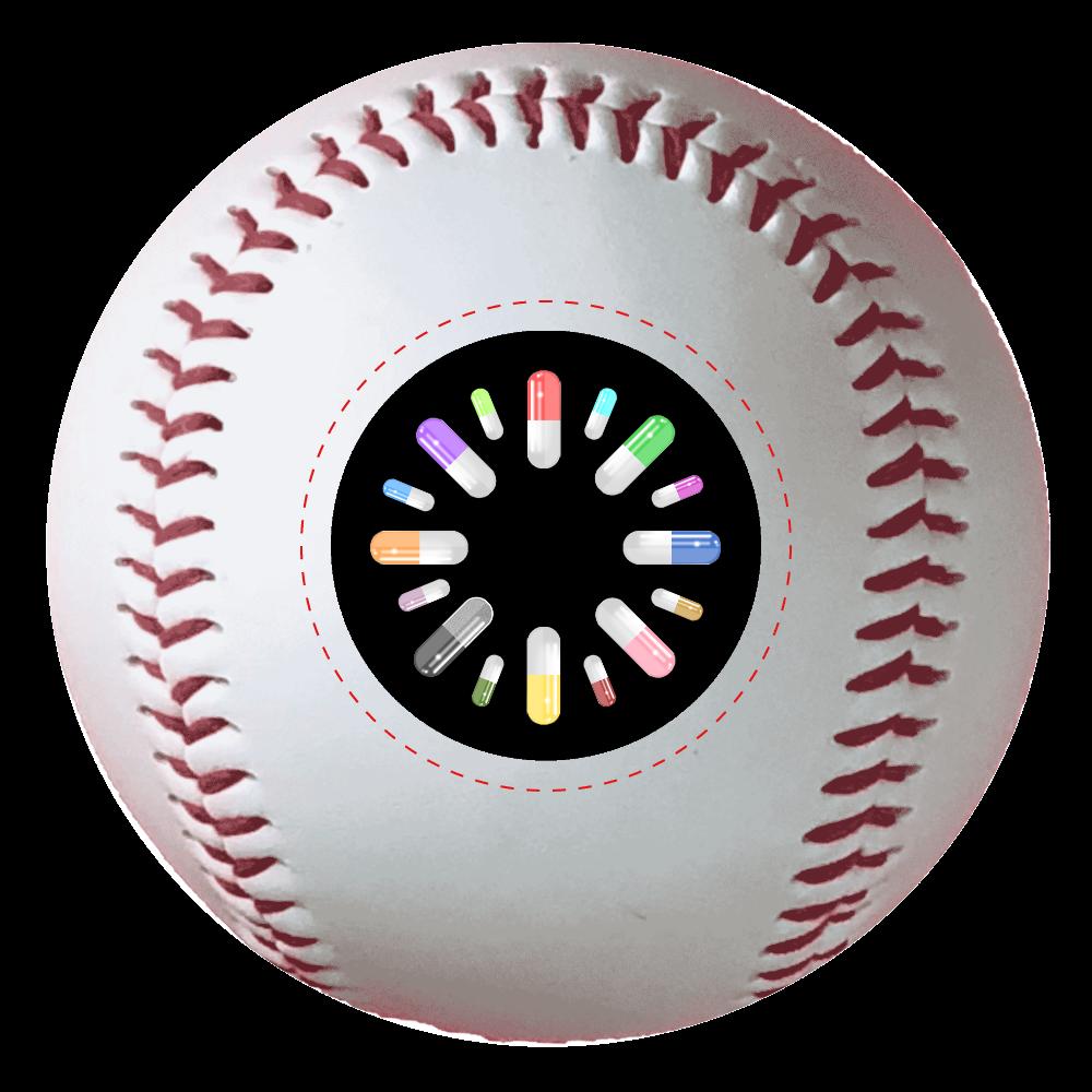 カプセル 野球ボール 野球ボール(硬式)