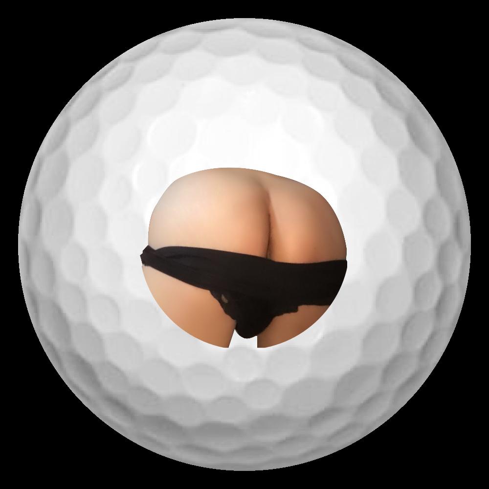 引っぱたきたくなるお尻 ゴルフボール(3個セット)