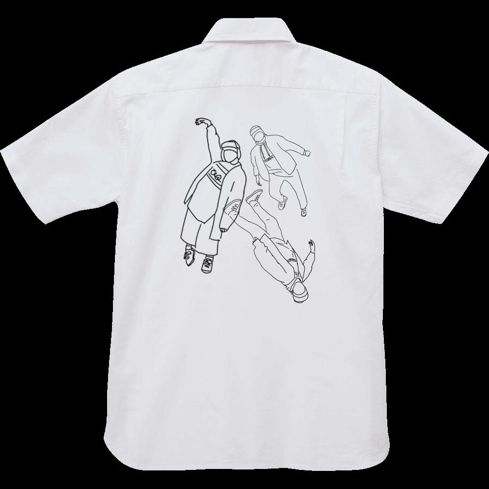 生きて腸まで届くオレ オックスフォードボタンダウンショートスリーブシャツ