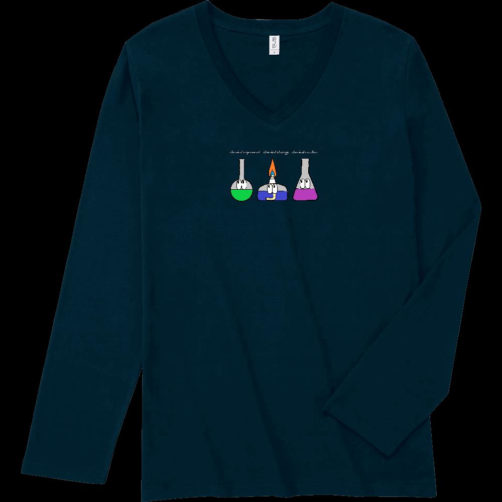 化学実験/モンスター スリムフィット VネックロングスリーブTシャツ