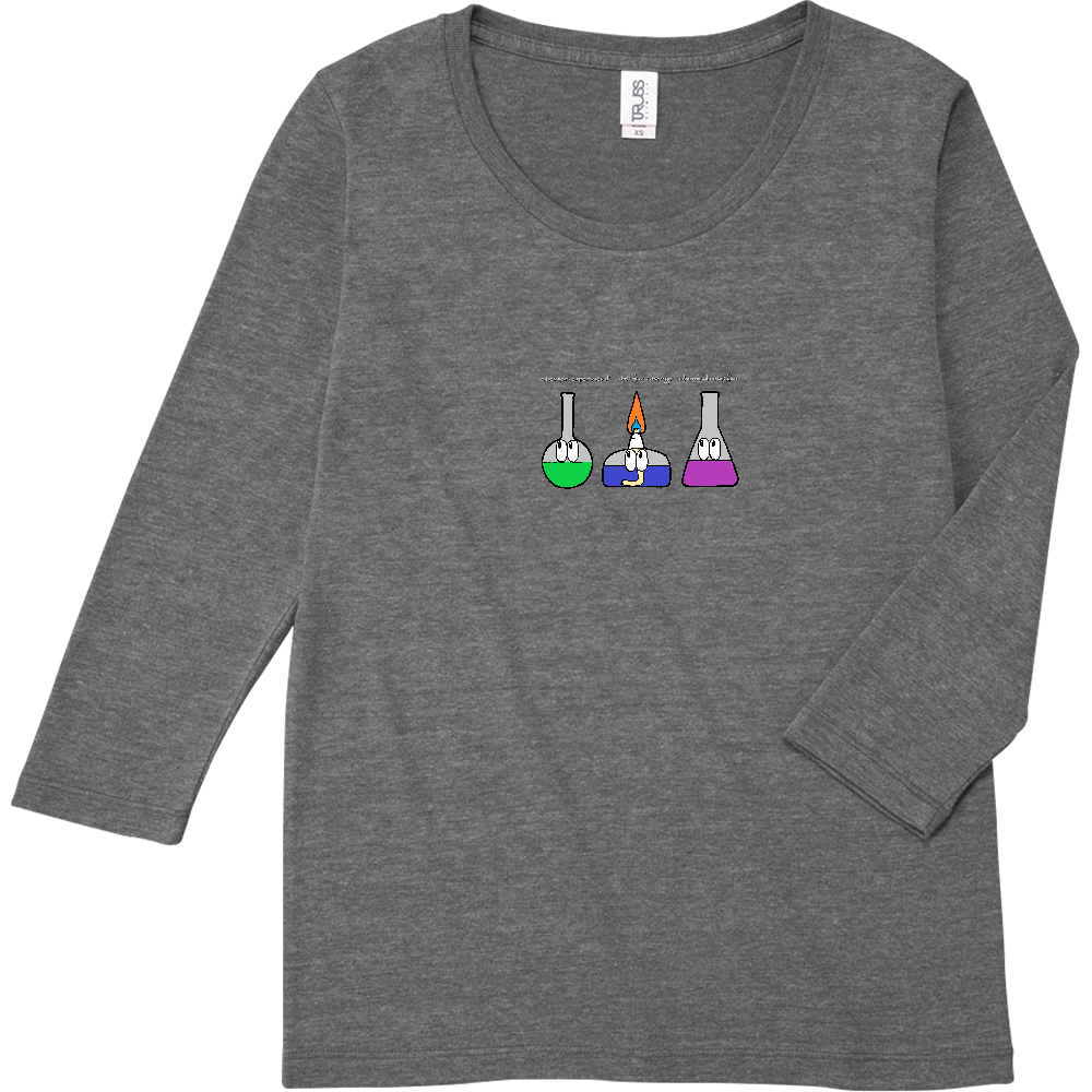 化学実験/モンスター トライブレンド7分袖レディースTシャツ