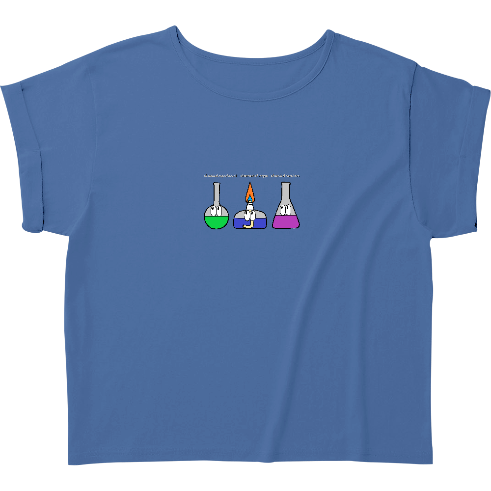 化学実験/モンスター ウィメンズ ロールアップ Tシャツ