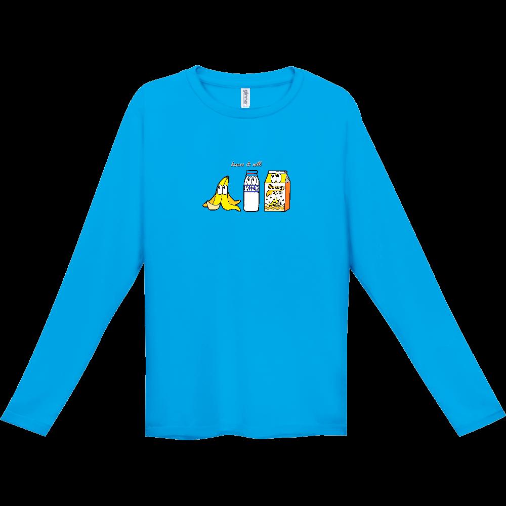 バナナミルク/モンスター インターロック ドライ長袖Tシャツ