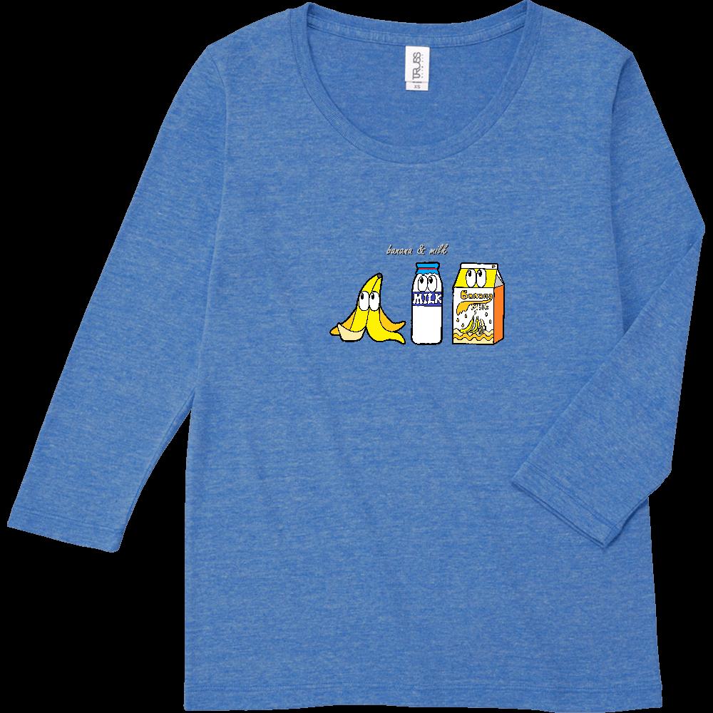 バナナミルク/モンスター トライブレンド7分袖レディースTシャツ