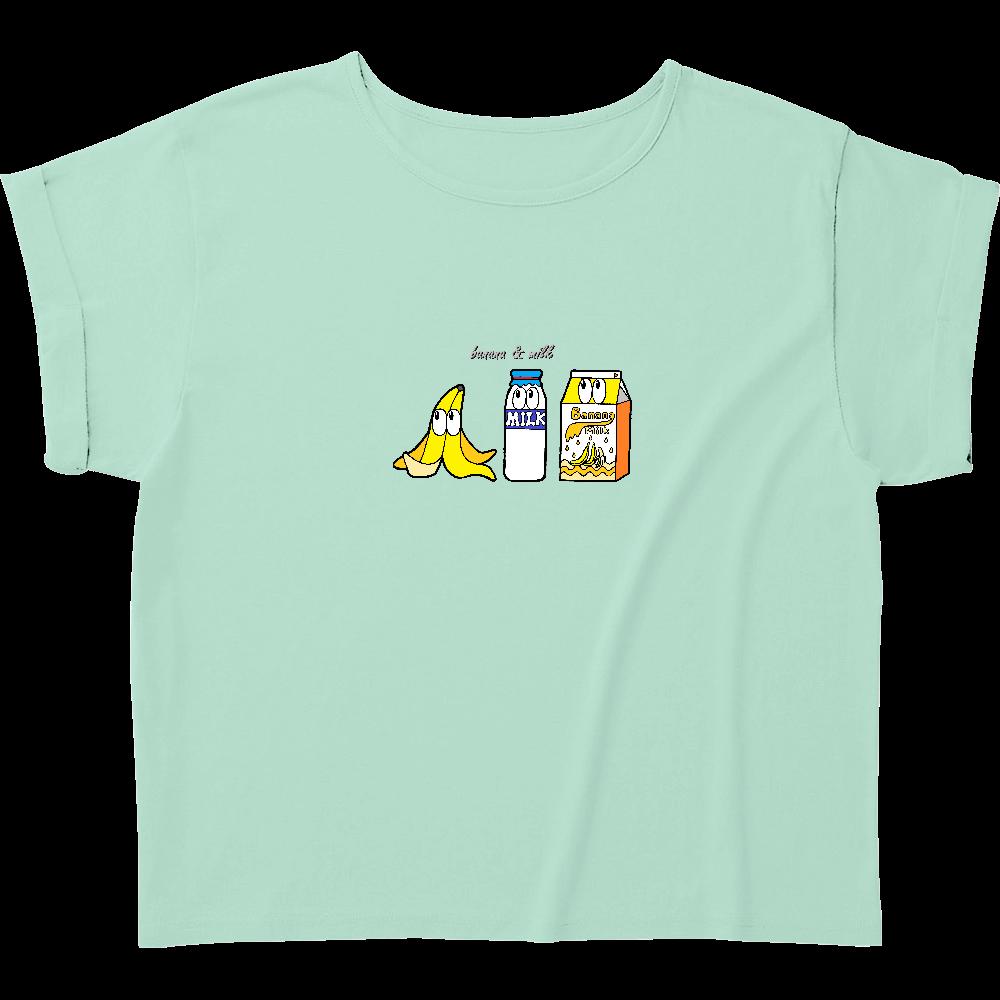 バナナミルク/モンスター ウィメンズ ロールアップ Tシャツ