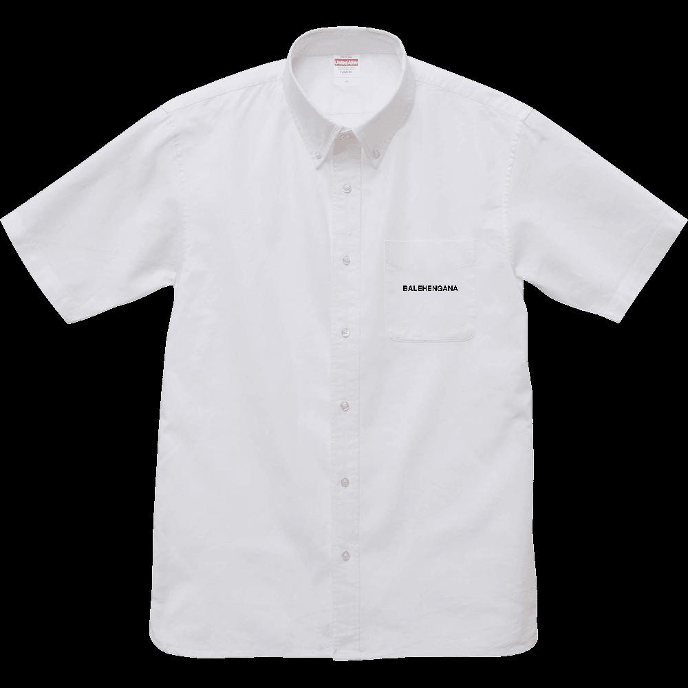 BALEHENGANA -バレヘンガナ ばれへんがな 黒ロゴ オックスフォードボタンダウンショートスリーブシャツ