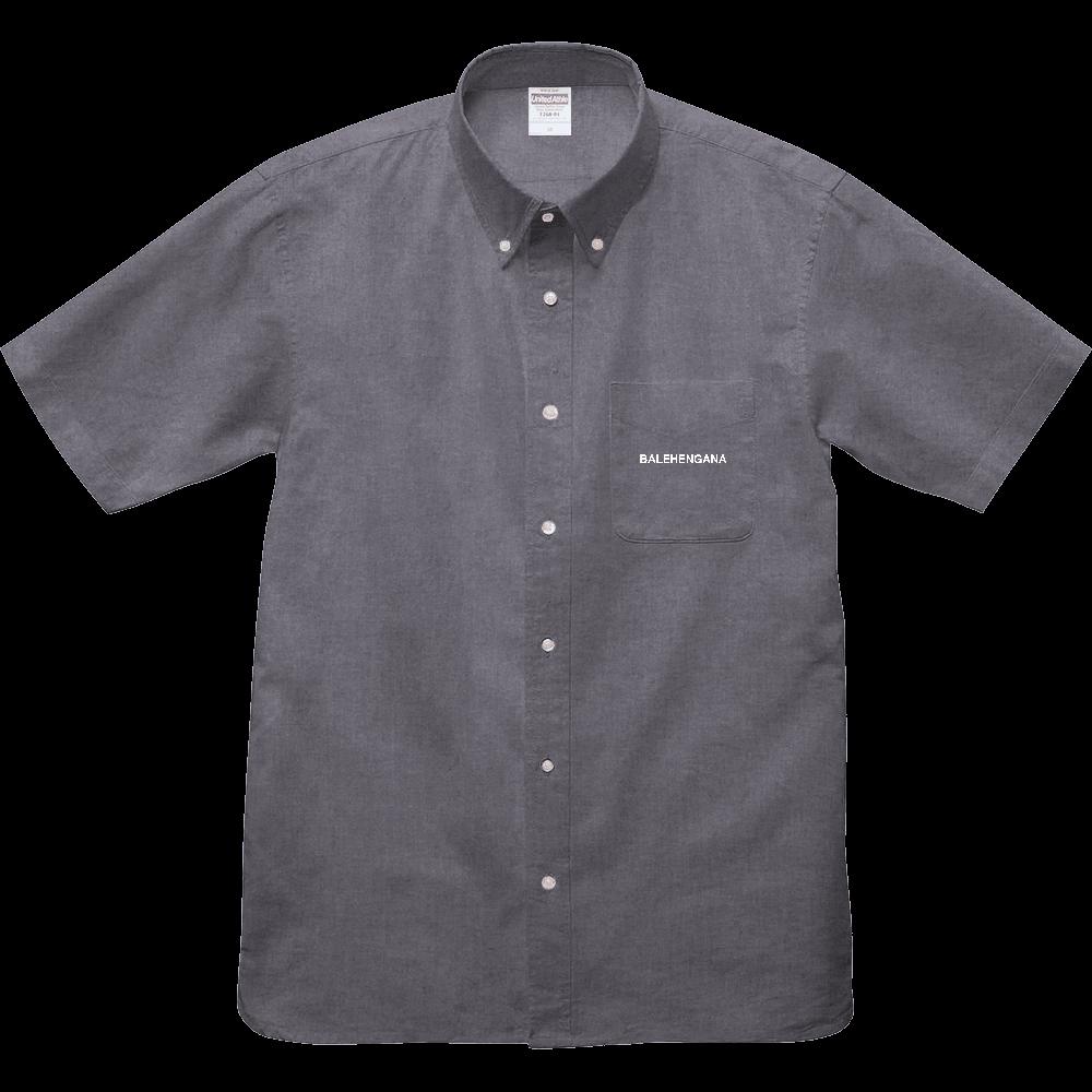 BALEHENGANA -バレヘンガナ ばれへんがな 白ロゴ オックスフォードボタンダウンショートスリーブシャツ