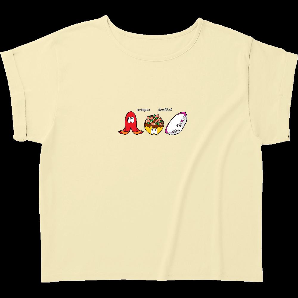 タコ/モンスター ウィメンズ ロールアップ Tシャツ