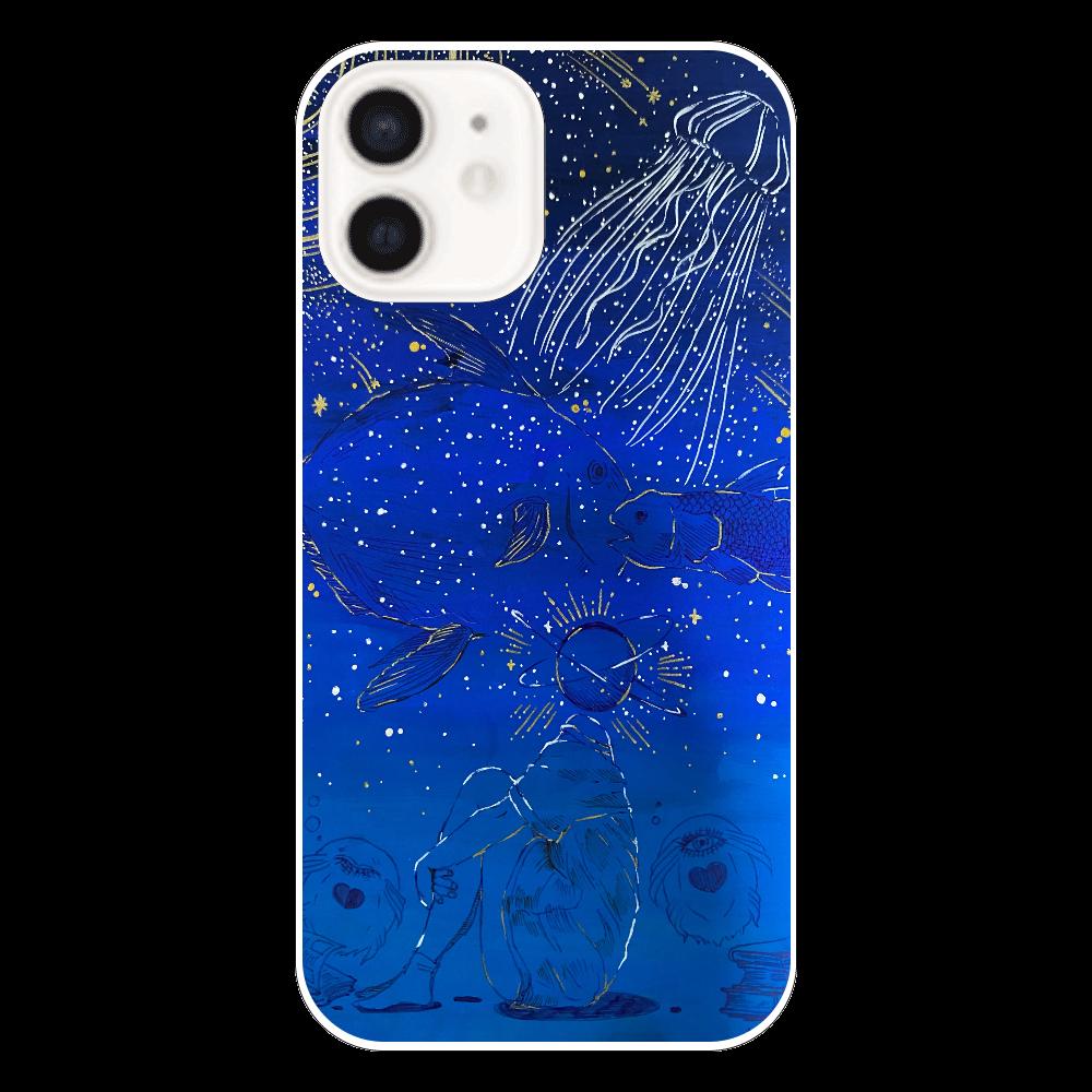 深蒼-deep blue- iPhone12(透明)