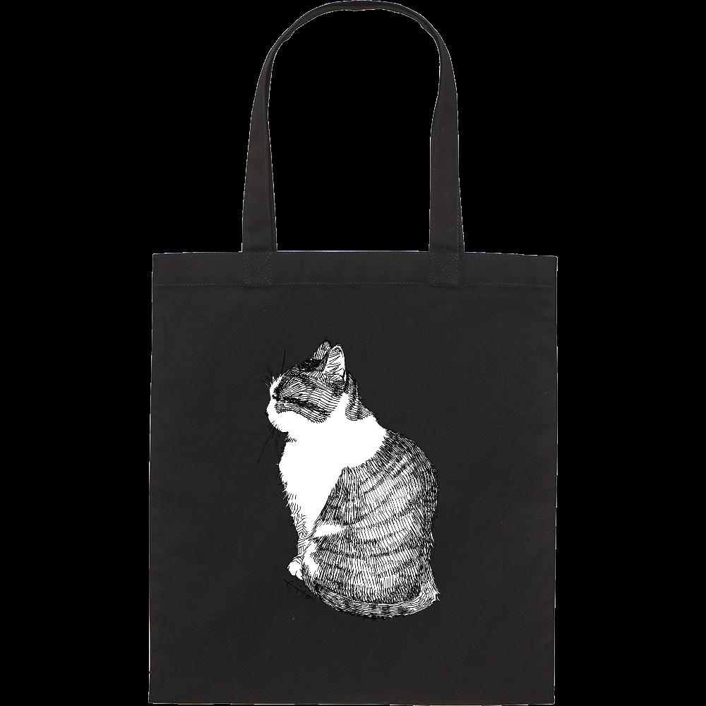 すまし顔猫キャンバスバッグM スタンダードキャンバスフラットトートバッグ(M)
