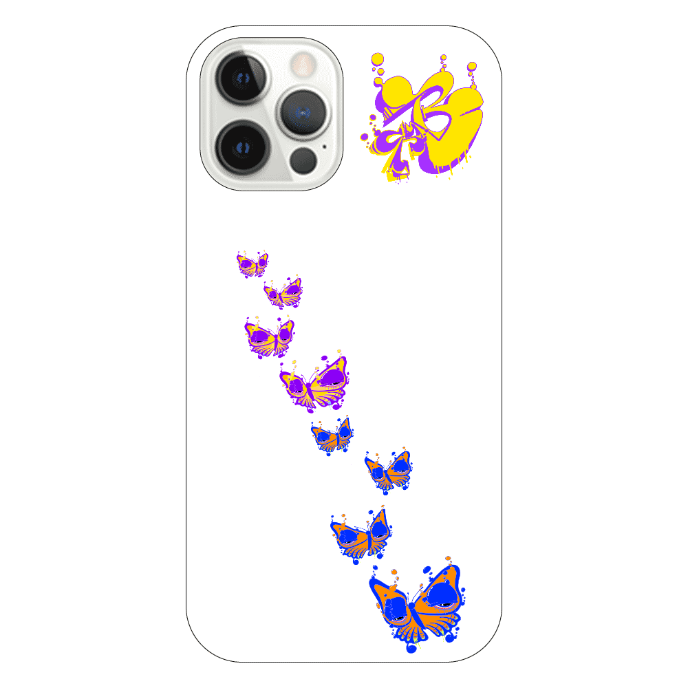 bubbly butterfly iPhone12 Pro(透明)
