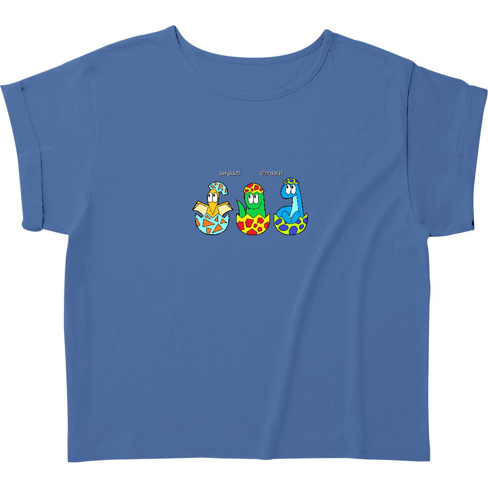 恐竜/モンスター ウィメンズ ロールアップ Tシャツ