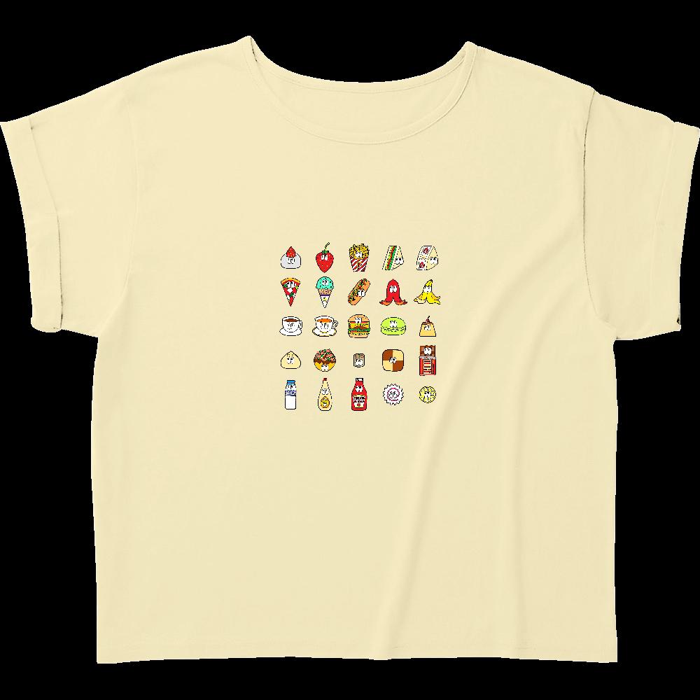 フード&ドリンク/25モンスターズ ウィメンズ ロールアップ Tシャツ