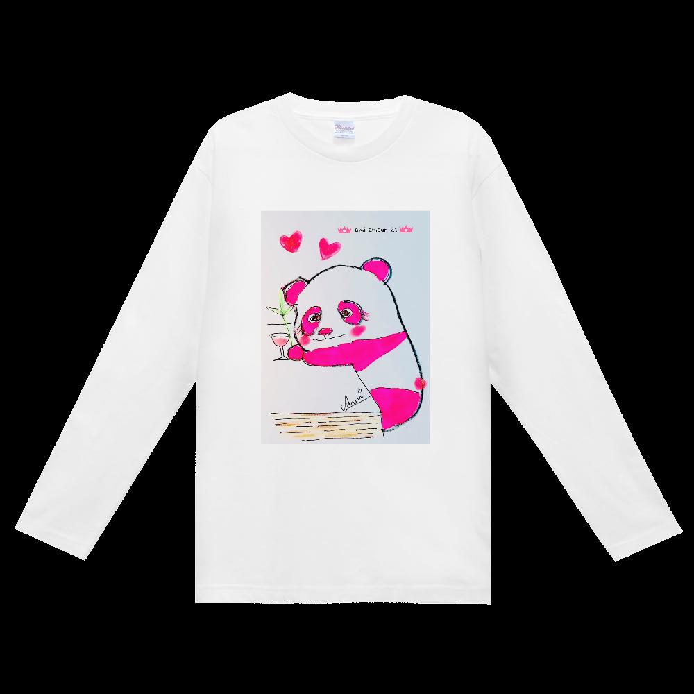 酔っパンダ(長袖Tシャツ) ヘビーウェイト長袖Tシャツ