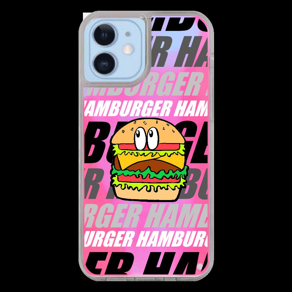 ハンバーガー/モンスター iPhone12/12pro ネオンサンドケース