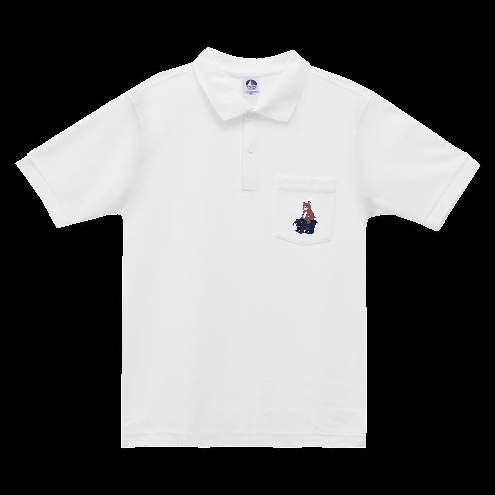 bear on bear ポロシャツ ベーシックスタイルポロシャツ(ポケット付)