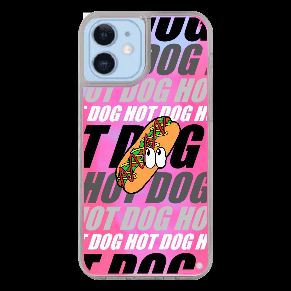 ホットドッグ/モンスター iPhone12/12pro ネオンサンドケース
