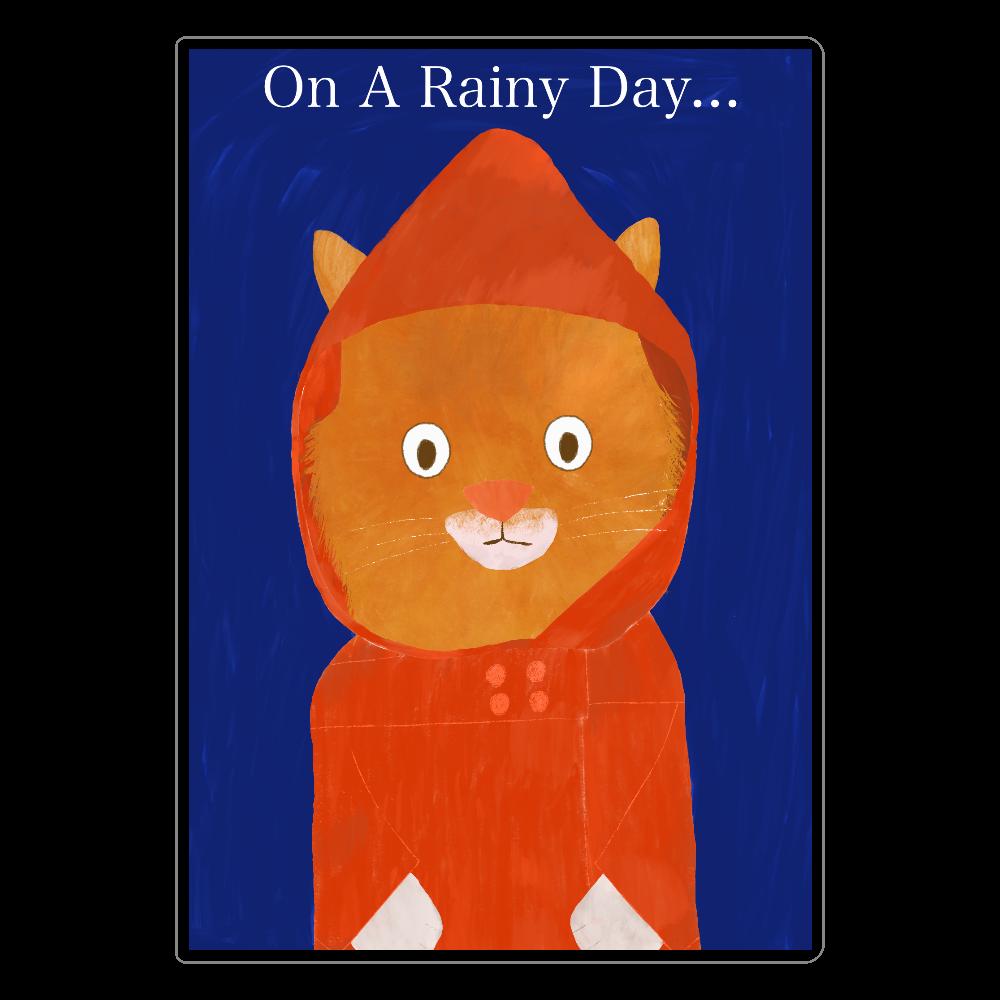 雨の日ねこ ソフトレザーノートver ソフトレザーノート
