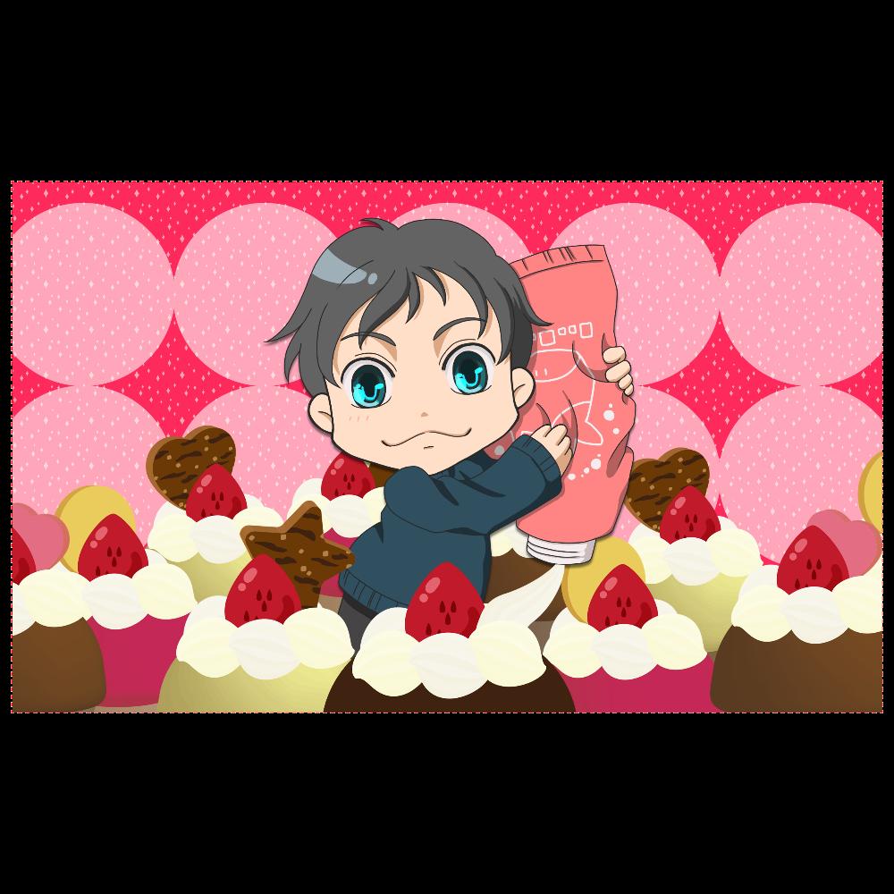 カップケーキ男子 化粧ポーチ