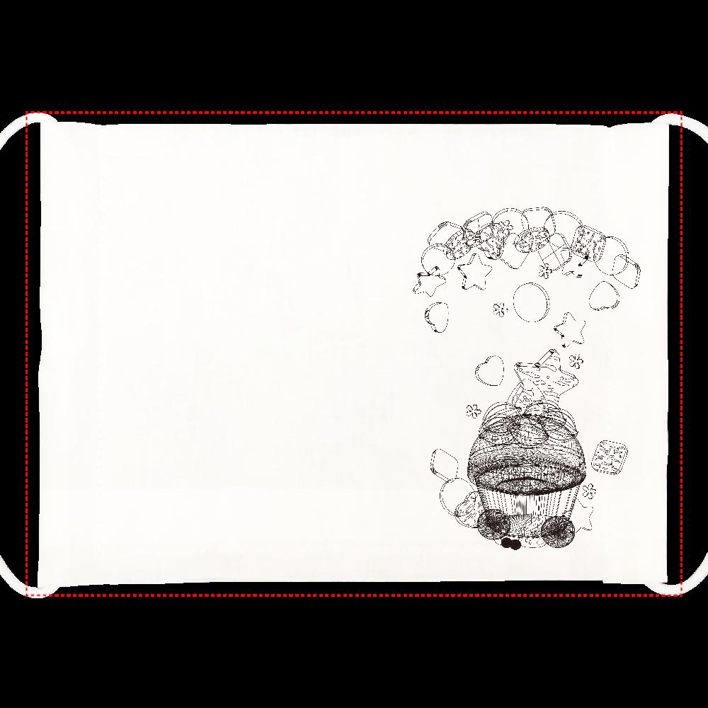 カップケーキ-お祝いデコレーション ひんやりマスク