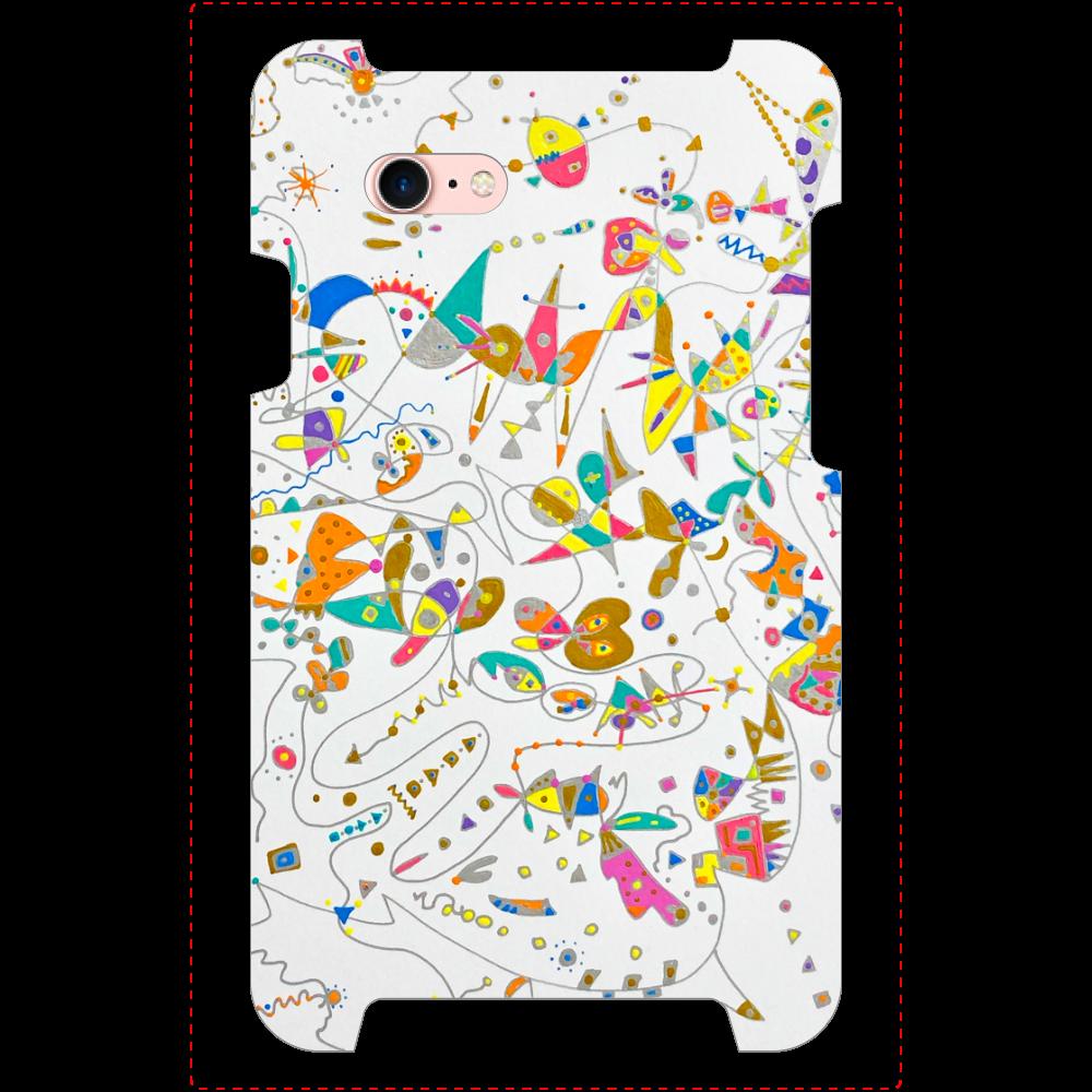 ぶちょうイラスト ロゴなし【iPhone7】ミラーケース カード収納付 iPhone7_ミラーケース