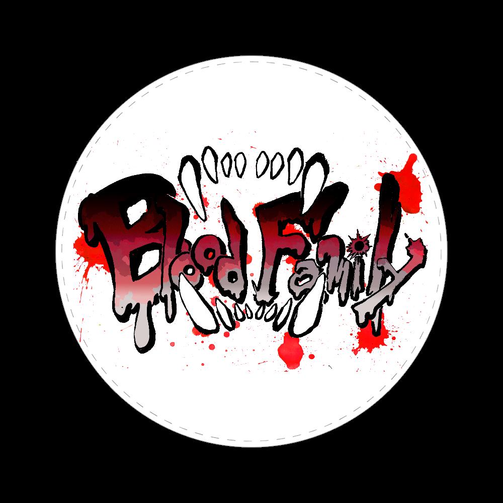 ロゴ缶バッジ《Blood Family》 65㎜缶バッジ