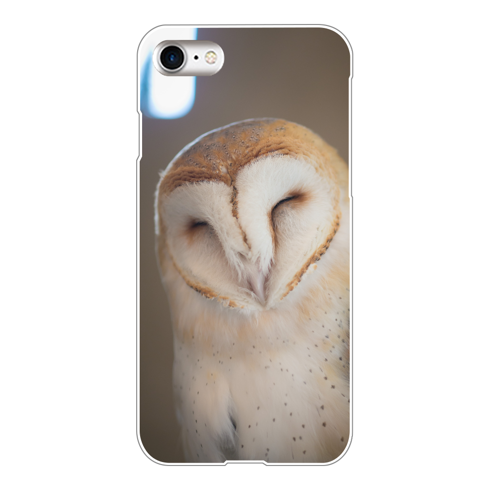 メンフクロウ/フクロウの可愛いiphoneケース/スマホケース/学業成就/縁起物/ラッキーグッズ/アニマル/動物/i phone8 iPhone8(透明)