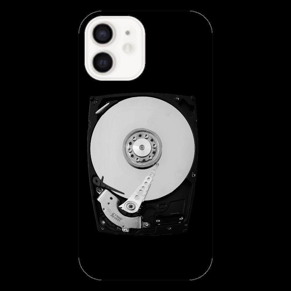 シンプル/ハードディスク/HDD/グラフィック/カジュアル/理系/    iPhone12 ブラック iPhone12