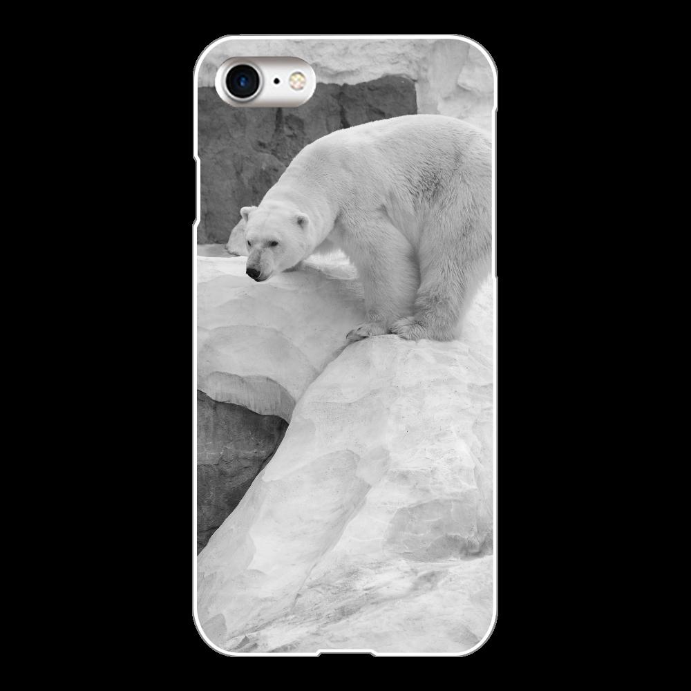 白熊/ホッキョクグマiphoneケース/スマホケース/熊//しろくま・白くまアニマル/動物/i phone8 iPhone8(透明) iPhone8(白)