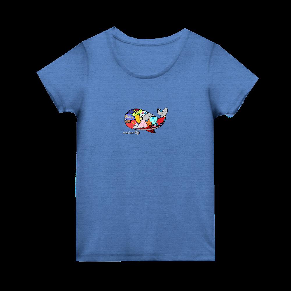 くじら/カラー トライブレンド ウィメンズ Tシャツ
