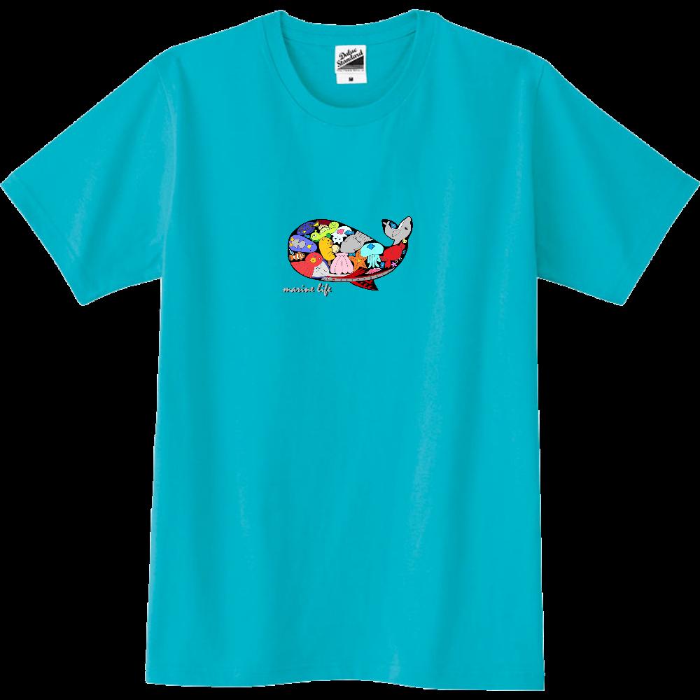 くじら/カラー スリムTシャツ